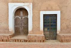 Morocco door architecture detail Royalty Free Stock Photo