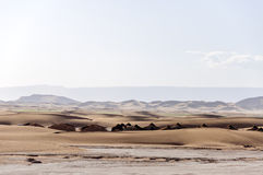 Morocco, Draa valley. tents among sand dunes Royalty Free Stock Images