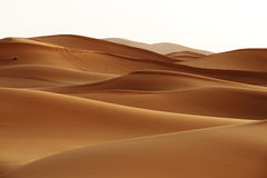 morocco Dunes de sable de désert du Sahara Photos stock