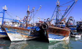 Morocco, Essaouira: fishing boats Stock Photos