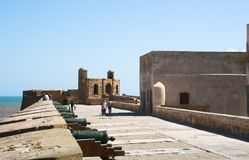 Morocco, Essaouira, fortress Royalty Free Stock Images