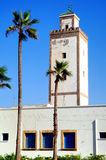 Morocco, Essaouira: mosque. Morocco, Essaouira: the mosque, blue sky and the palm trees royalty free stock photography