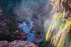 morocco för 2 falls ouzoud Fotografering för Bildbyråer