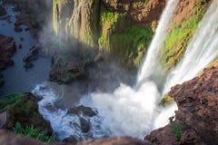 morocco för 3 falls ouzoud Arkivfoto