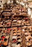Morocco, Fez, Tannery Royalty Free Stock Photos