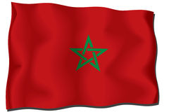 Morocco Flag. Wavy and realistic morocco Flag Stock Illustration
