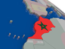 Morocco with flag Royalty Free Stock Photo