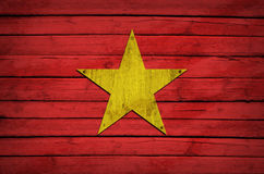 Morocco flag painted on wooden boards Royalty Free Stock Photos