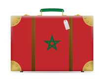 Morocco flag travel suitcase Stock Photography