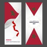 Morocco Happy independence day Confetti Celebration Background V. Ertical Banner set - This Vector EPS 10 illustration is best for print media, web design royalty free illustration
