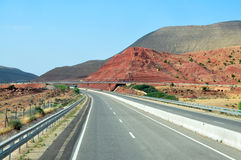Morocco highway Royalty Free Stock Photo