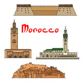 Morocco historic landmarks and sightseeings Royalty Free Stock Photo
