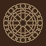 Morocco Interlaced Circle Ornament Royalty Free Stock Photo