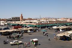 Morocco Jamaa el Fna Marrakesh Stock Image