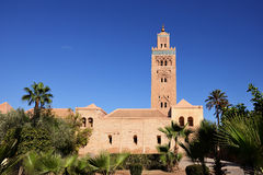 Morocco. Koutoubia mosque in Marrakech Royalty Free Stock Image