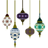 Morocco Lamps. Beautiful pattern vector Stock Images