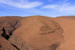 Morocco Landsacpe. Panoramic view  in Atlas mountain Morocco Stock Image