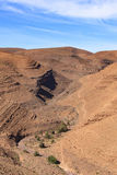 Morocco Landsacpe. Panoramic view  in Atlas mountain Morocco Royalty Free Stock Photos