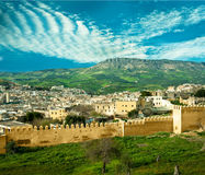 Morocco, a landscape of a city wall Royalty Free Stock Image