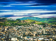 Morocco, wall in the city of Fes stock images
