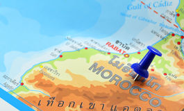 Morocco map Stock Images