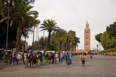 Koutubia mosque in Marrakech (Morocco) Stock Photo