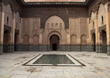 Morocco Marrakesh Ali Ben Youssef Medersa Islamic Stock Photography