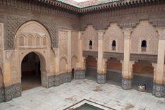 Morocco Marrakesh Ali Ben Youssef Medersa Islamic Royalty Free Stock Photography
