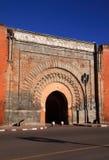 Morocco Marrakesh Bab Agnaou Medina gate. Morocco Marrakesh Bab Agnaou the most intricate of the medieval city gates stock photos