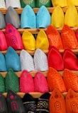 Morocco, Marrakesh, Babuch slippers. stock photos