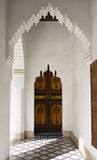 Morocco Marrakesh Bahia Palace Arch Royalty Free Stock Photography