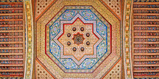 Morocco, Marrakesh: ceiling decoration. Morocco, Marrakesh: traditional ceiling decoration stock images