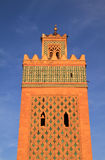 Morocco Marrakesh The Kasbah Mosque minaret Royalty Free Stock Photos