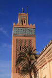 Morocco Marrakesh The Kasbah Mosque minaret Royalty Free Stock Images