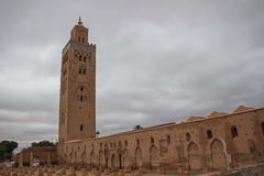 Morocco Marrakesh Koutoubia Mosque and Minaret Royalty Free Stock Photos