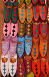 Morocco, Marrakesh medina, colourful slippers Stock Photo