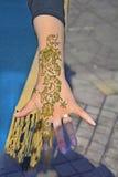 Morocco, Marrakesh. Marrakesh, Morocco, woman with henna tatoo Stock Photo