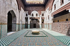 Morocco, Meknes, interior of a Medersa Royalty Free Stock Images