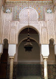 Morocco, Meknes, Islamic arches and stucco Stock Image