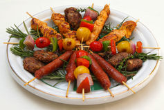 Morocco Mixed kebabs Stock Photos