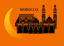 Morocco and moon Royalty Free Stock Images