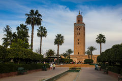 morocco Moschea di Koutoubia a Marrakesh Immagini Stock Libere da Diritti