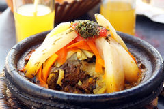 Morocco national dish - tajine Royalty Free Stock Images