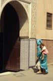 Morocco old door stock photo