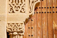 morocco old door and Stock Photo
