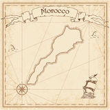 Morocco old treasure map. Stock Photos