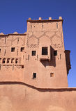 Morocco Ouarzazate Kasbah. Morocco Ouarzazate Medieval Kasbah fort tower built in adobe royalty free stock images