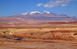 Morocco Ouarzazate river valley Royalty Free Stock Photography