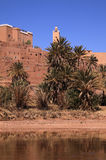 Morocco, Ouarzazate - Tifoultout Ksar. Morocco Ouarzazate - Tifoultout medieval Kasbah built in adobe stock photo