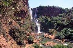 Morocco ouzoud waterfall. Ouzoud waterfall in atlas mountain s Stock Images